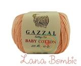 Пряжа Gazzal Baby Cotton 3412 персик