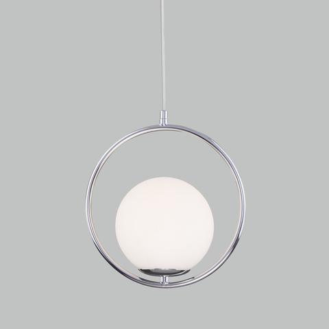 Подвесной светильник со стеклянным плафоном 50089/1 хром