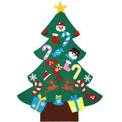 Новогодняя елка из фетра с игрушками