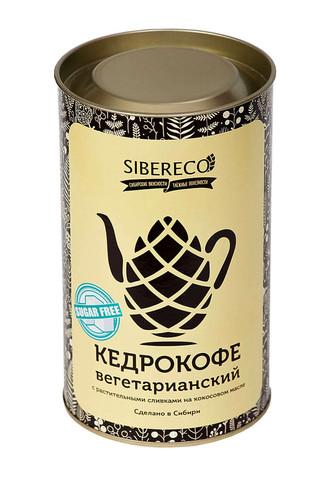 Sibereco Кедрокофе Вегетарианский на растительных сливках (без сахара) Тубус 500г