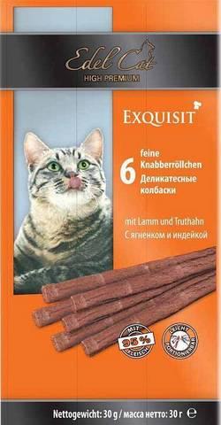 Edel Cat колбаски для кошек с ягненком и индейкой 6шт
