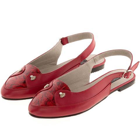 630199 Туфли летние женские красные. КупиРазмер — обувь больших размеров марки Делфино