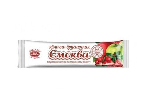 Пастила СМОКВА яблочно-брусничная, 30 гр. (Эко пастила)