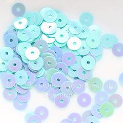Пайетки светло-бирюзовые, 6 мм, 10 грамм