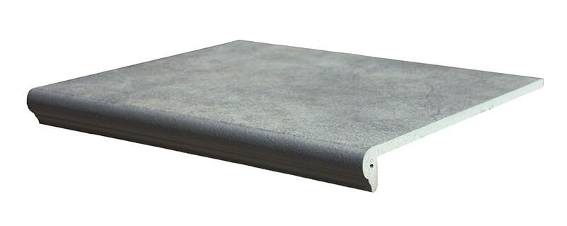 Interbau - Nature Art, Quarz grau/Серый 360x320x9,5, цвет 119 - Клинкерная ступень - флорентинер