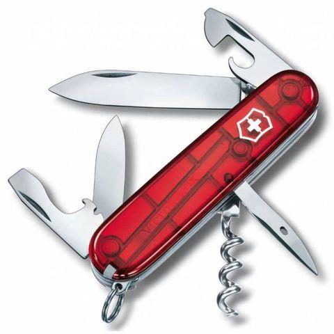 Нож перочинный Victorinox Spartan (1.3603.T) 91мм 12функций красный полупрозрачный