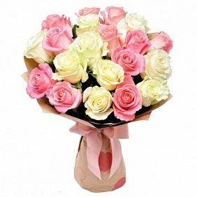 Цветы 25 розовых и белых роз 25_роз_и_бел_роз.jpg