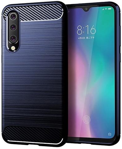 Чехол Xiaomi Mi 9 SE цвет Blue (синий), серия Carbon, Caseport