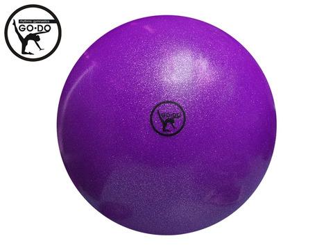Мяч GO DO для художественной гимнастики. Диаметр 15 см. Цвет фиолетовый имитация