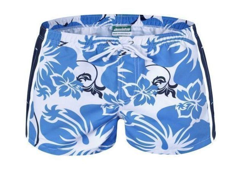 Мужские шорты пляжные голубые Aussiebum Coast Scent Five'O