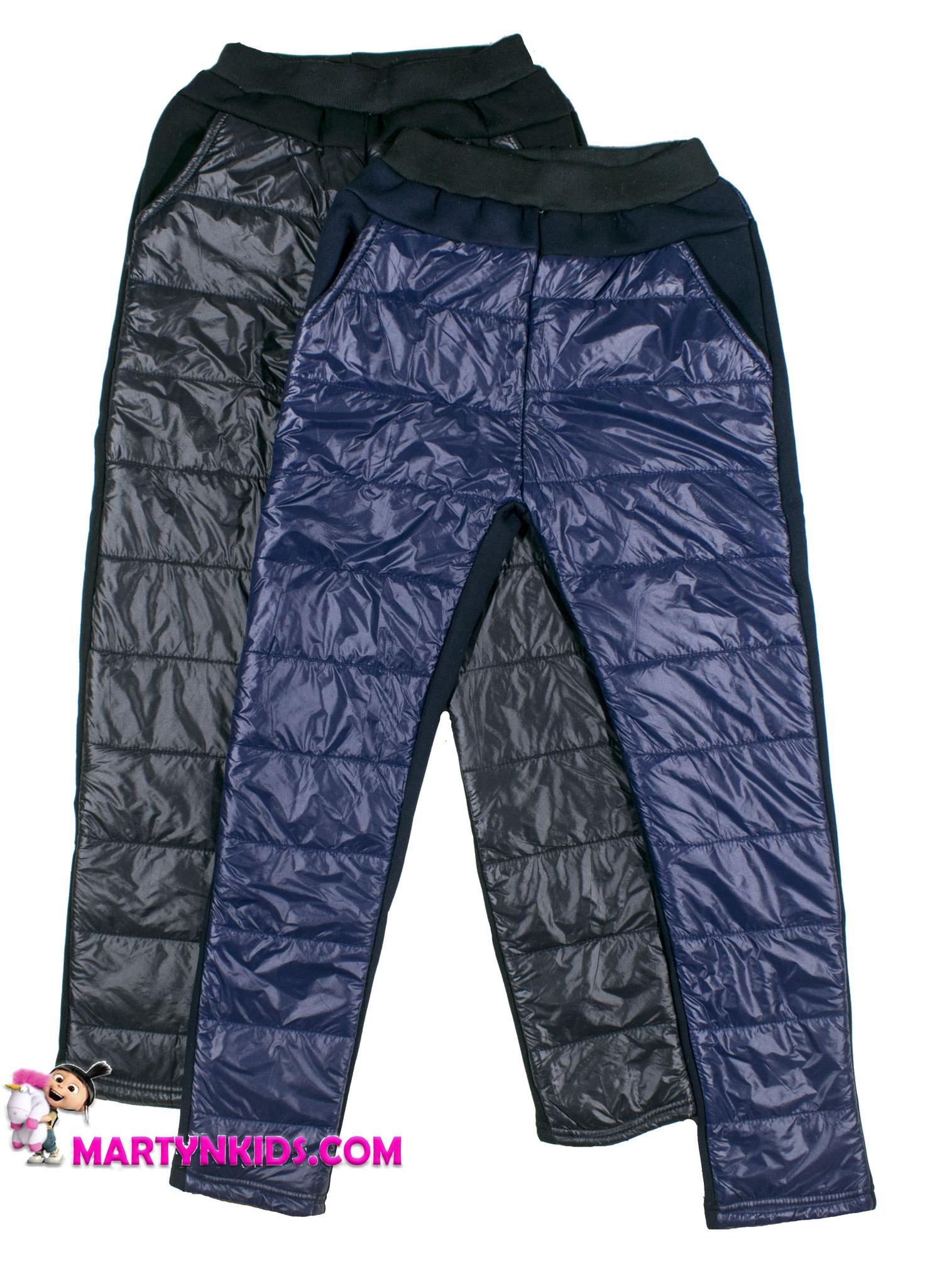 2863 зима штаны теплые комбинированные