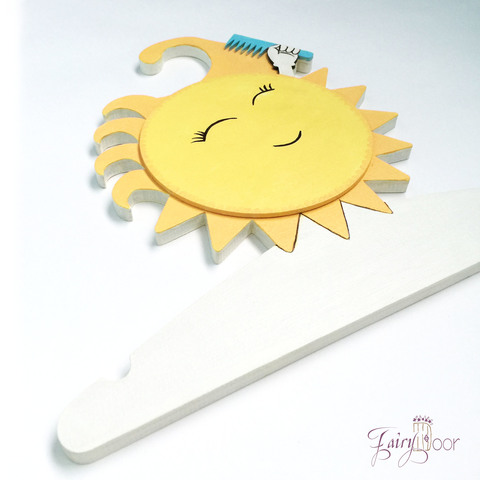 Детская Вешалка плечики Солнышко 30 см