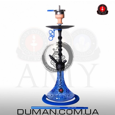 Кальян AMY Deluxe 072.01 Alu Antique Berry PSMBK-BU| Blue Mate