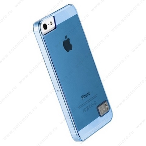 Накладка HOCO для iPhone SE/ 5s/ 5C/ 5 - HOCO Crystal Colorful protective case Tran-blue