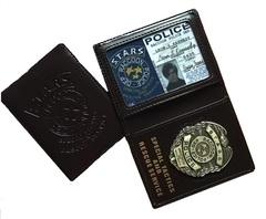 Обитель Зла удостоверение Полиции — Resident Evil S.T.A.R.S. Badge & Leather Wallet