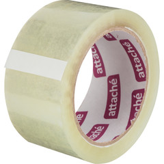 Скотч клейкая лента упаковочная Attache прозрачная 48 мм x 80 м толщина 45 мкм