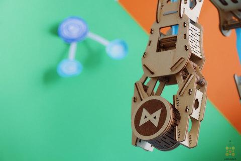 Гидравлическая рука UNIMO (UNIWOOD) - Деревянный конструктор