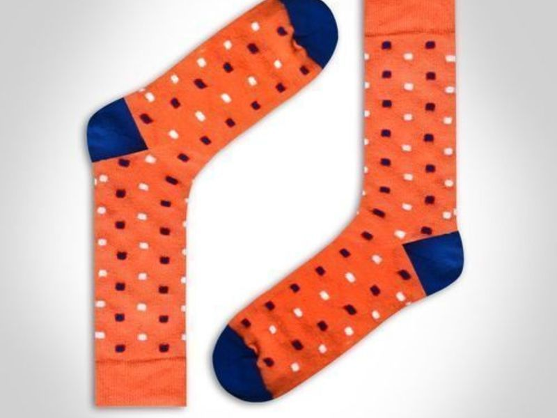 Носки мужские оранжевые DARKZONE DZCP0305