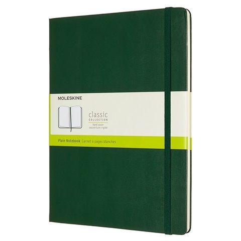 Блокнот Moleskine CLASSIC QP092K15 XLarge 190х250мм 192стр. нелинованный твердая обложка зеленый