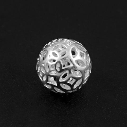 Бусина Коломбо 9,3 мм серебро 925