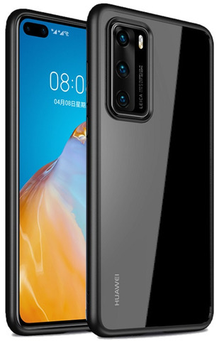 Чехол защитный для Huawei P40 Pro от Caseport, серия Ultra Hybrid, черные рамки