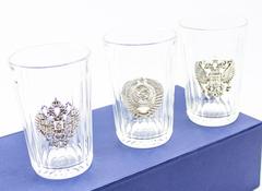 Подарочный набор граненных стаканов «Неподвластный времени», фото 2