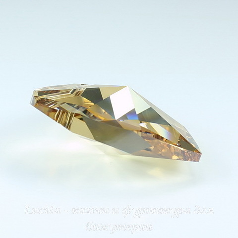 6228 Подвеска Сваровски Сердечко Crystal Golden Shadow (40 мм)