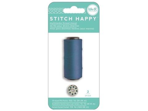 Катушка нити и шпулька для шитья We R Stitch Happy Twine -2шт- Navy