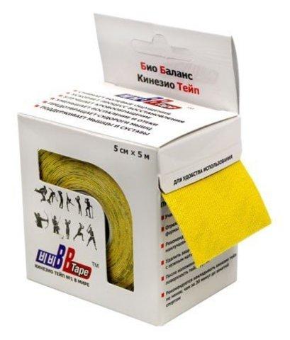 BBtape кинезио тейп 5см х 5м (желтый)