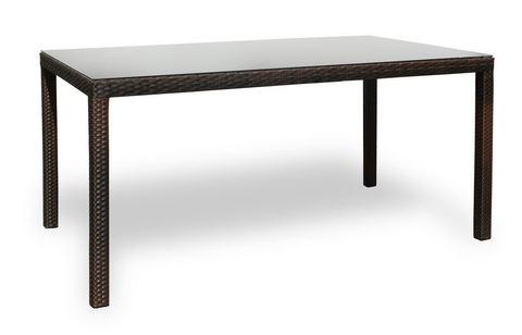 Стол плетеный Милан 160, темно-коричневый