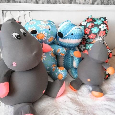 Подушка-игрушка антистресс «Бегемот малыш Няша», оранжевый 6