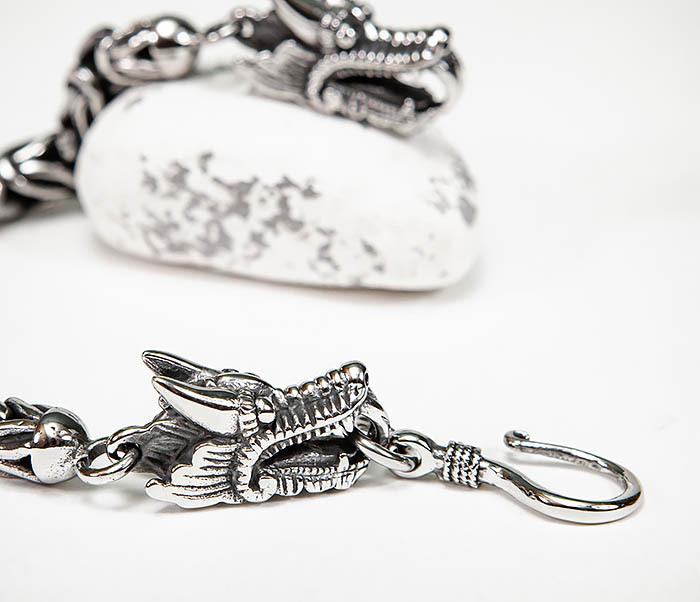 BM580 Мужской браслет с драконами из стали (21,5 см) фото 05