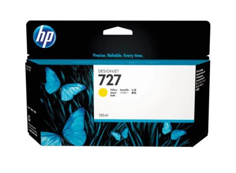 Картридж струйный HP B3P21A (№727) желтый