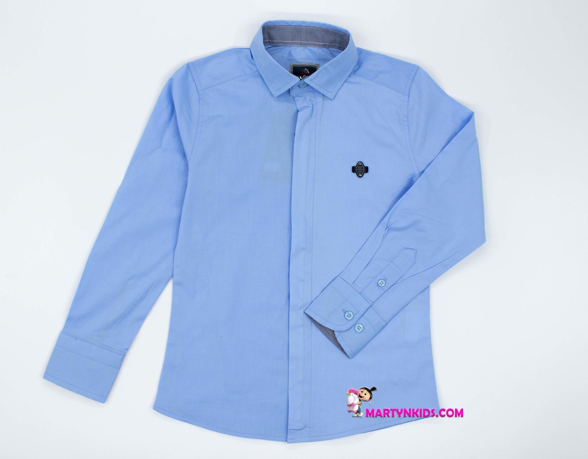 2576 рубашка школа молния-планка