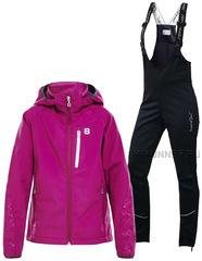 Детский утеплённый лыжный костюм 8848 Altitude Castie Softshell  + Nordski Active