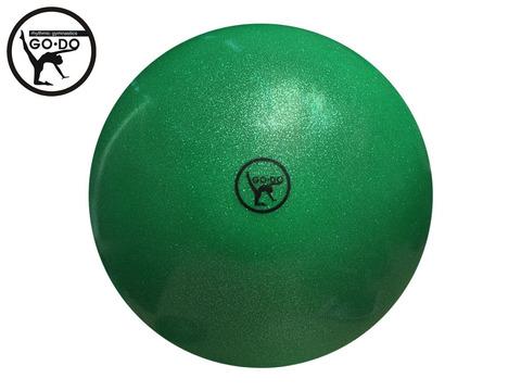 Мяч GO DO для художественной гимнастики. Диаметр 15 см. Цвет зелёныый имитация