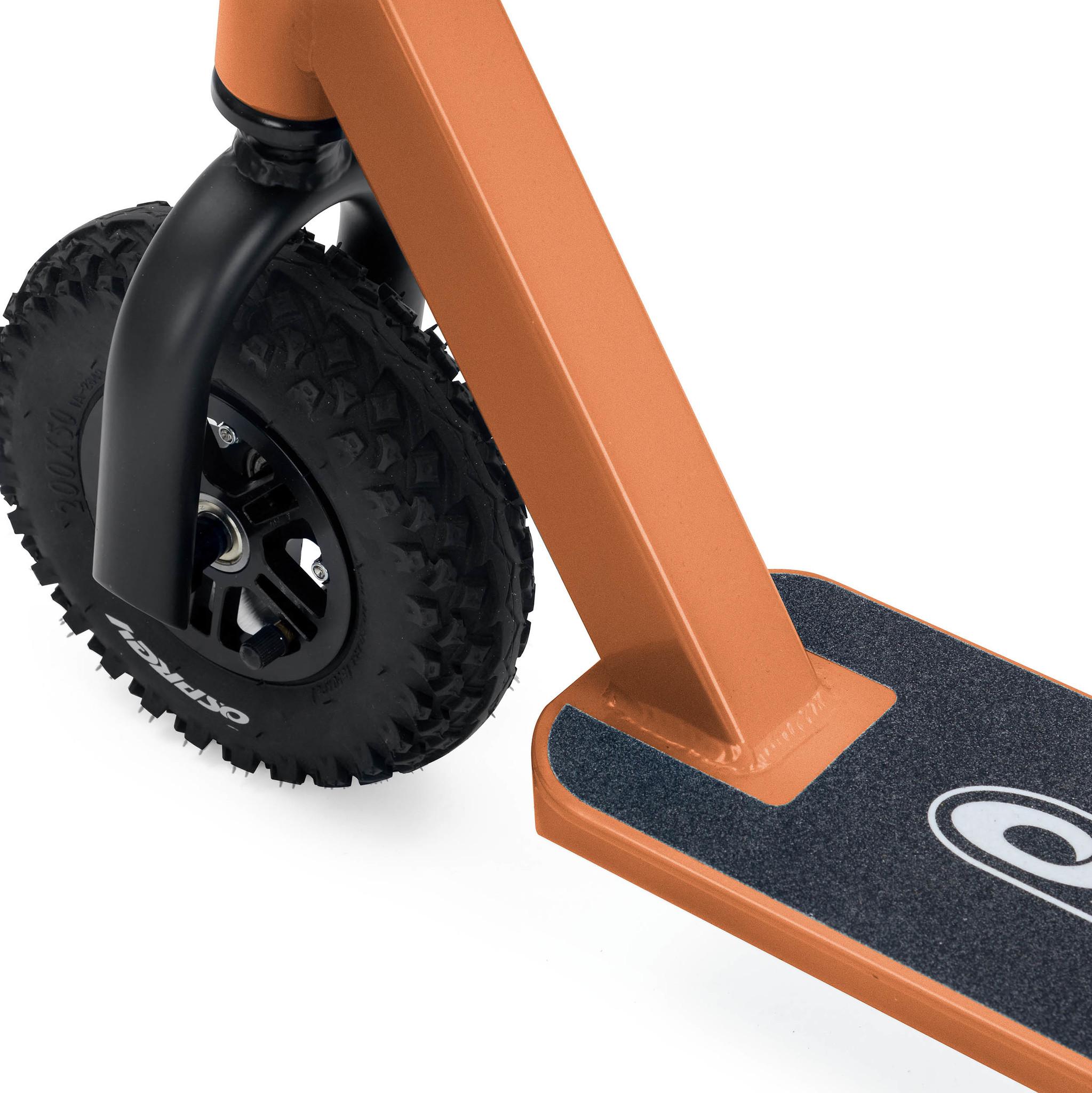 Самокат Osprey. Надувные колеса. Оранжевый