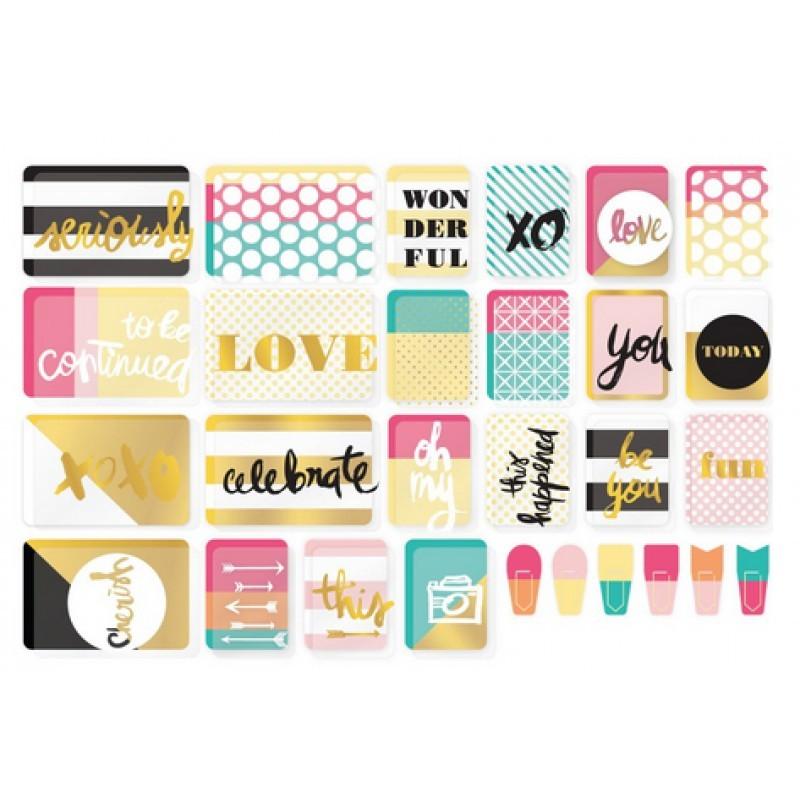 Kit набор карточек и украшений для Project Life 96шт
