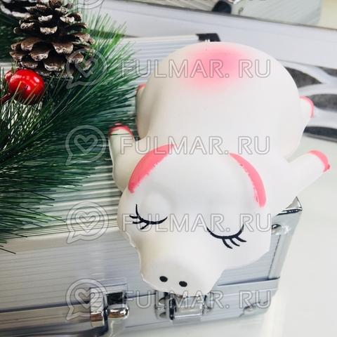 Спящая Свинка Хрюшка символ 2019 новогодняя сквиши игрушка антистресс