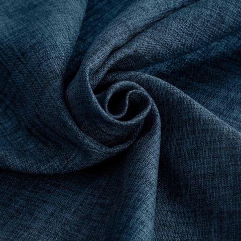 Блэкаут лен для штор темно-синий оптом. BLL-208
