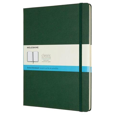 Блокнот Moleskine CLASSIC QP093K15 XLarge 190х250мм 192стр. пунктир твердая обложка зеленый