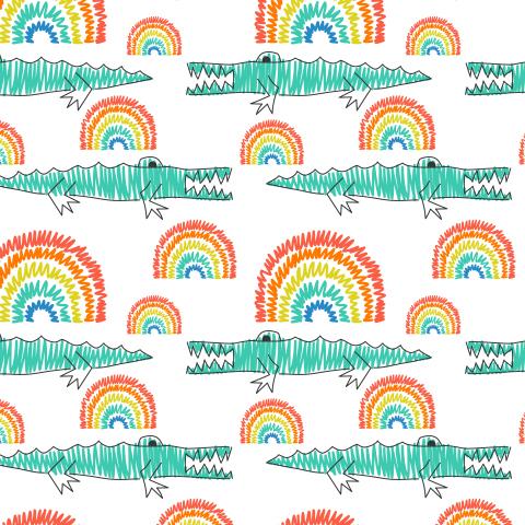 Крокодил и радуга