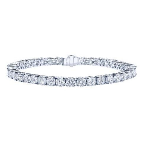 87542- Теннисный браслет-дорожка из серебра с цирконами