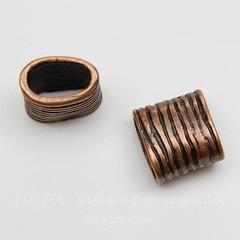 Бусина металлическая (для шнура 11х5 мм)