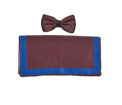 Галстук-бабочка La Madre + платок (комплект) шелковый 3