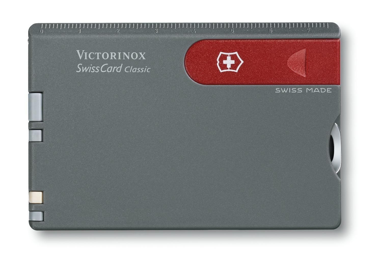 Швейцарская карта Victorinox SwissCard Classic Grey (0.7106) цвет серый - Wenger-Victorinox.Ru