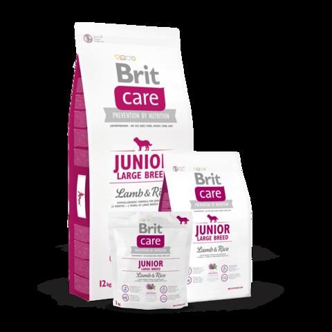 Brit Care Junior Large Breed Сухой корм для щенков крупных пород Ягненок и Рис