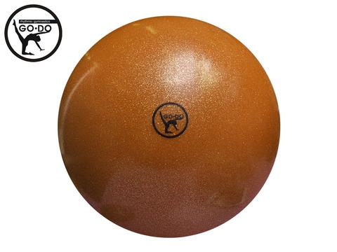 Мяч GO DO для художественной гимнастики. Диаметр 15 см. Цвет оранжевыый имитация