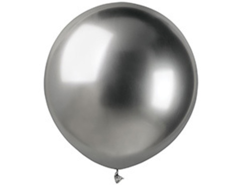 Воздушный шар Хром Серебряный 45 см.