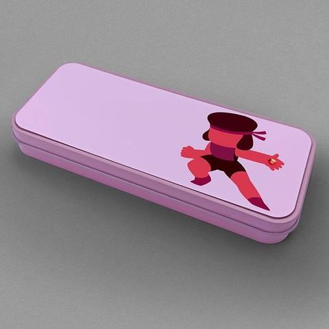 Розовый металлический пенал